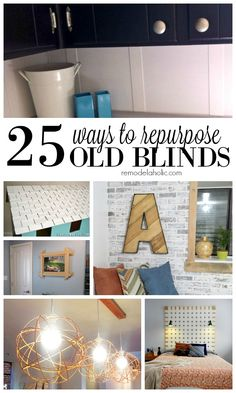 Don't throw away old blinds, reuse them. There are so many ways to use them around the home. Check out these 25 Ways to Repurpose Old Blinds via Remodelaholic.com