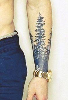 Tattoo Of Tree On Wrist For Men #TattooIdeasForMen