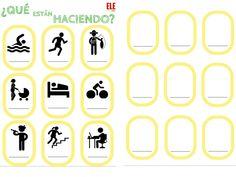 ¿Fichas para repasar utilizando la mímica en clase! De @eleconole  :D  Aquí: http://www.eleinternacional.com/mimica-en-clase-de-ele/  ¡Geniales!