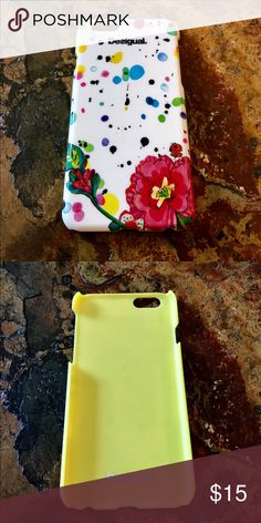 Desiqual iPhone 6/6s Phone Case Like new. Colorful Floral case. No trades. Desigual Accessories Phone Cases