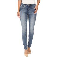 Jag Jeans Sheridan Skinny Capital Denim in Dockside (Dockside) Women's... ($68) ❤ liked on Polyvore featuring jeans, faded skinny jeans, skinny fit jeans, faded denim jeans, zipper skinny jeans and frayed jeans