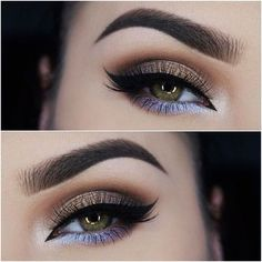 If you're thinking you can't go for a smokey eye if you have hooded eyes and go for a cat eye makeup look, see for yourself :) #cateyemakeup #makeup #makeuptutorial #beauty #hoodedeyes #smokeyeye #eyemakeuptutorial More of this: http://itsallaboutmakeups.com/simple-eye-makeup-for-hooded-eyes/