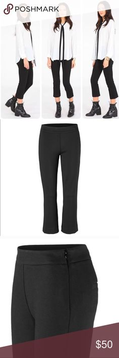 CABI Kingston Black Cropped Trousers Pants #3394 CABI Black cropped trousers that feel so comfortable like your wearing leggings. Thick material with a very nice stretch. New without tags Excellent condition cabi Pants Ankle & Cropped