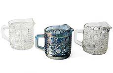 Indiana Glass Carnival Glass Windsor Creamer Trio