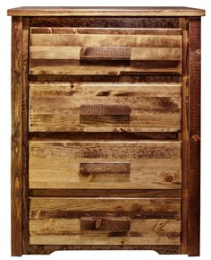 Rustic Sawn 4 Drawer Chest