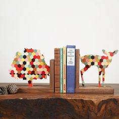 Wolfum bookends — tabletop dc