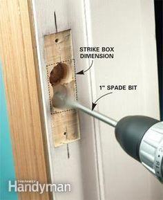 How To Reinforce Doors Entry Door And Lock Reinforcements The Family Handyman Bestofhomesecuritycamera Entry Doors Home Security Tips Home Safety