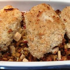 If you crave southern-style fried chicken but fear the calories, try this oven-baked version of chunks of chicken coated in well-seasoned panko bread crumbs.