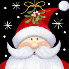 Santa Mistleoe by Stephanie Stouffer | Ruth Levison Design