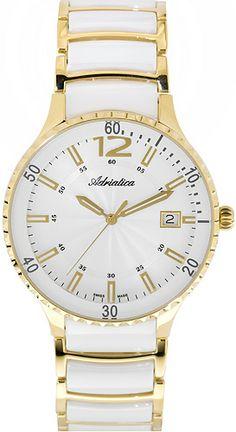 Zegarek damski Adriatica A3681.D153Q - sklep internetowy www.zegarek.net Gold Watch, Watches, Accessories, Wristwatches, Clocks, Jewelry Accessories