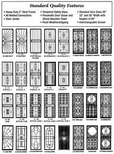 24 Ideas for metal door grill security screen Steel Gate Design, House Gate Design, Door Gate Design, Door Grill, Window Grill Design, Steel Security Doors, Security Screen Doors, Double Door Design, Wrought Iron Doors