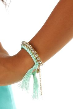 You Shook Me Bracelet: Mint