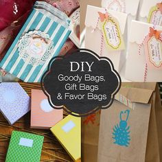 A Collection of DIY Goody Bags, Gift Bags and Favor Bags Ideas