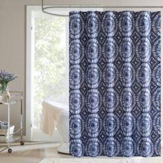 Surf Fabric Shower Curtain