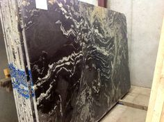 Titanium or Atacaba Black granite slab