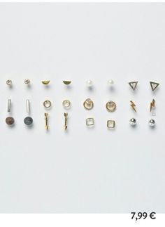 Pull and bear assortiment boucles d'oreilles