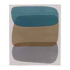 "MALIN FIGUR rug, low pile, turquoise Length: 3 ' 9 "" Width: 3 ' 2 "" Surface density: 8 oz/sq ft Length: 115 cm Width: 97 cm Surface density: 2530 g/m²"