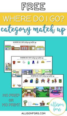 Practice categories and associations with this NO PREP resource! Open on your device for a NO PRINT option. Preschool Speech Therapy, Speech Activities, Speech Therapy Activities, Speech Language Pathology, Language Activities, Speech And Language, Articulation Activities, Life Skills Activities, Material Didático