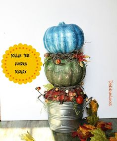 How to make a dollar tree pumpkin topiary