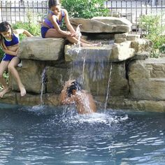 Gallery > Standard | Swimming Pool Waterfalls by RicoRock®, Inc. - A new way to build custom swimming pool waterfalls.