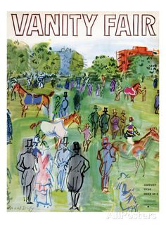 Vanity Fair Cover - August 1934 Regular Giclee Print von Raoul Dufy - bei AllPosters.ch