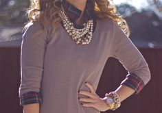 plaid and pearls // ready for fall