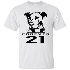 ff0e63d059c Forever 21 Pitbull Shirt - White - Shipping Worldwide - NINONINE Pitbulls