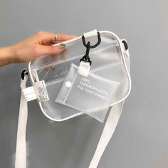 d6ac7b141 2018 Mulheres Saco Transparente de PVC Transparente Pequeno Mensageiro Tote  Sacos de Ombro Bolsas Femininas Senhora