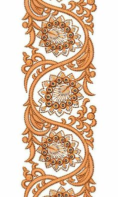 Border Embroidery Designs, Lace Embroidery, Embroidery Patterns, Bunch Of Flowers Drawing, Embroidered Towels, Patch Design, Border Design, Caftans, Textile Patterns
