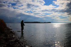 Lystfiskere på jagt efter undslupne regnbueørreder ved #assens #oktober #instapic #visitassens #fynerfin #vielskernaturen #natur #landskab #fishing #sea #mitassens #sunlight #beach #visitdenmark #visitfyn #tv2vejret