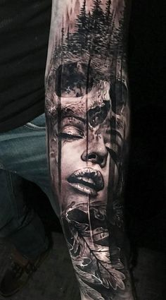 awesome double exposure tattoo © tattoo artist Jak Connolly ❤📌❤📌❤📌❤📌❤ Source by Full Sleeve Tattoos, Tattoo Sleeve Designs, Tattoo Designs Men, Forarm Tattoos, Life Tattoos, Body Art Tattoos, Lower Arm Tattoos, Arm Tattoos For Guys, Dark Tattoos For Men