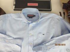 Vineyard-Vines-Button-Down-Collar-Blue-Oxford-Mens-sz-XL-size-extra-large-EUC