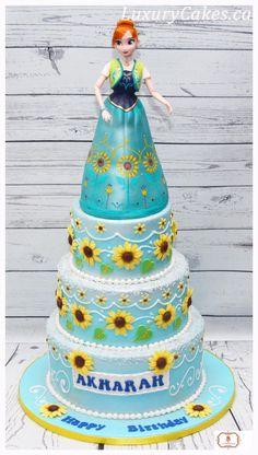Frozen fever Anna cake - Cake by Sobi Thiru