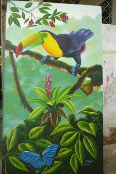 Graffiti Wall Art, Mural Art, Tropical Birds, Exotic Birds, Painting & Drawing, Watercolor Paintings, Colour Pencil Shading, Bird Artwork, Bird Prints