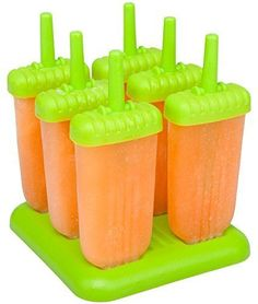 Popsicle Molds Ice Pop Set Of 6 Healthy Freeze Juice Kids Adult Dessert BPA Free #Ozera