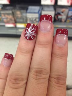 awesome Christmas nails love these so much totes adorbes ❤️...