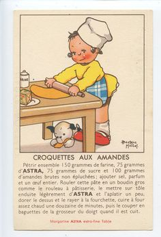 Beatrice Mallet recipe postcard 1930s | eBay