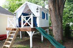 Super Ideas Diy Outdoor Playset Plans Simple Playhouse - Samantha Crain - Re-Wilding Backyard Treehouse, Backyard Playset, Building A Treehouse, Backyard Camping, Backyard Playground, Backyard For Kids, Garden Kids, Outdoor Playset, Playground Ideas