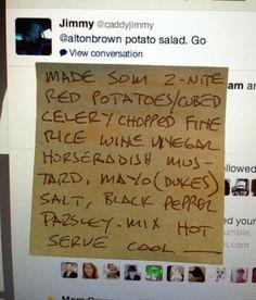 alton brown potato salad