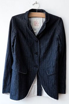 hannoh wessel natural/blue stripe vonni jacket
