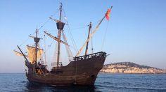 Le Nao Victoria, premier navire à avoir fait le tour du monde, arrive à Sète pour escale à Sète le 22 mars 2016 © Sébastien Banus
