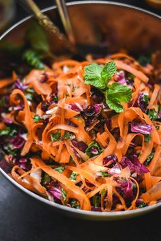 Moroccan Ribboned Carrot Raddicchio Salad + Blood Orange Dressing | Gringalicious