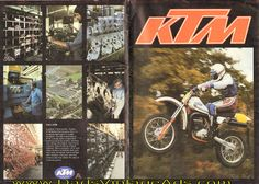 1982 Vintage KTM Motorcycle Brochure & Poster » www.DadsCycleMags.com