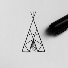 August is the month of the tipis. Working on this tiny one for Camilla.