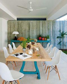 Outdoor eclectic dining area | Comedor exterior de estilo ecléctico · ChicDecó