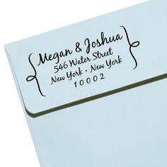 "CUSTOM ADDRESS STAMP - Eco Friendly & self inking, gifts for wedding, housewarming, etsy labels, return address stamp ""Name36"". $27.95, via Etsy."