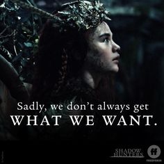 "S3 Ep8 ""A Heart of Darkness"" - Wise words your majesty. #Shadowhunters"