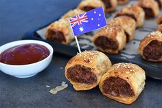 These delicious sausage rolls are an Australian twist on the classic. Vegemite adds a subtle salty, delightful umami flavour taking it to the next level. Vegemite Recipes, Pork Recipes, Easy Recipes, Weber Q Recipes, Bbq Cake, Aussie Food, Camping Meals, Camping Recipes, Sausage Rolls