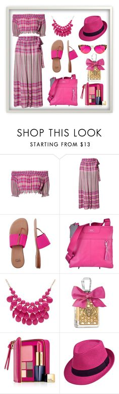 """""""Untitled #1057"""" by diane-fritz-sager on Polyvore featuring Apiece Apart, André Assous, Tumi, Alexa Starr, Juicy Couture, Estée Lauder and Krewe"""