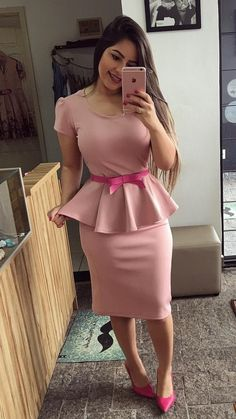 52 Casual Summer Work Outfits for Professionals 2019 - Fashion Enzyme Latest Fashion Design, Trend Fashion, Fashion Outfits, Woman Outfits, Casual Work Outfit Summer, Casual Summer Dresses, Work Casual, African Fashion Dresses, African Dress
